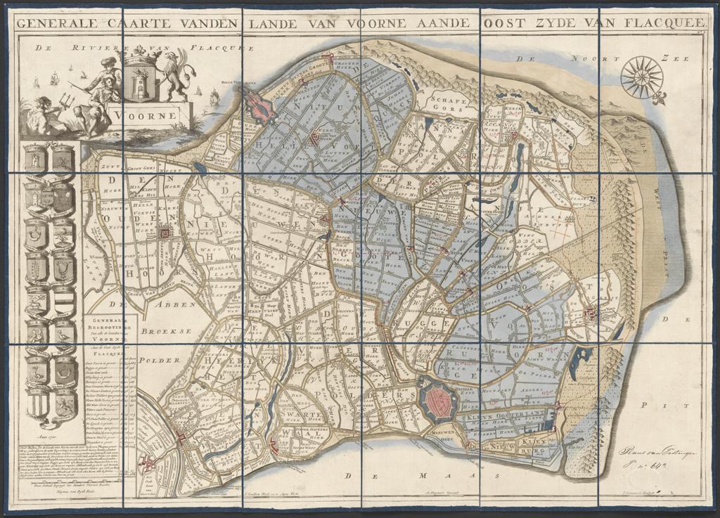 'Generale caarte vanden lande van voorne aande oost zyde van Flacquee'